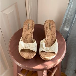 ✨3 for $25✨Unionbay Wedges w Bow Accent Size 7.5